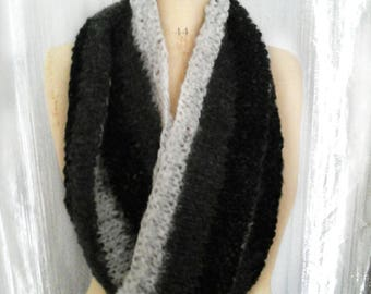 Double Snood wool mohair and acrylic