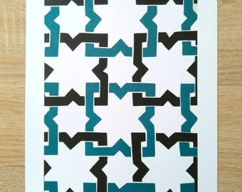Printed sheet with the Alhambra tile No.3