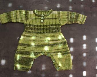 "onesie ""mottled green"" 6-9 months"