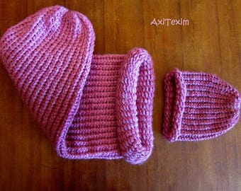 Pretty baby cocoon and hat set pink