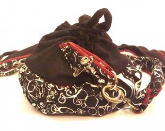 Belt + Black mini purse