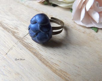Dragon's egg Ring, color blue