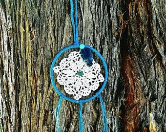 Lil teal dream catcher 6 in.