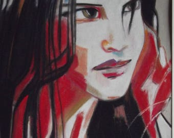 beautiful portrait of my dear daughter clear