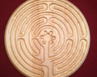 Hand-Carved Finger Labyrinth: Chartres
