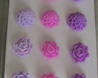 Your purple coconut resin flowers