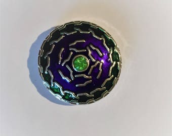 Snap 1.8 cm green purple