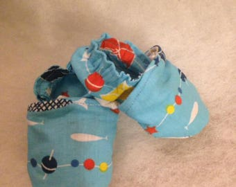 baby 0 / 3 months cotton blue patterned fish