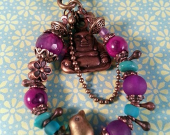 Gypsy bag purple and Turquoise