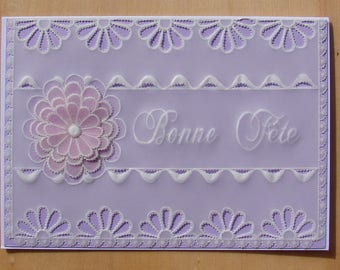card pergamano grandmothers - mothers good lilac blossom party party party