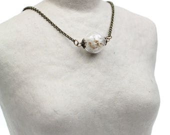 Collar, back jewelry, glass and flowers, bride, wedding, Pearl, ball, bubble.