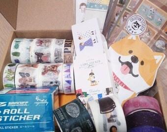 Washi Tape and Sticker Set, Washi Tape Set, Sticker Set, Washi Tape Bundle, Sticker Pack, Journal Supplies Set, Planner Accessories