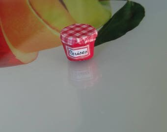 magnetic cherry jam made by myself with polymer clay