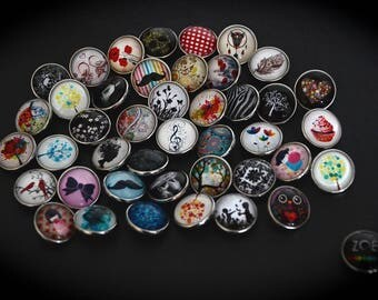 Lot 100 Cabochons 18mm for jewelry fancy pressure