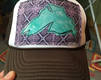Brown Big Lake Trucker Hat