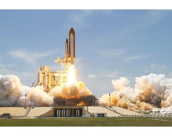 Daytime Space Shuttle Launch - Space Photo Print - NASA Space Poster - Space Print Art