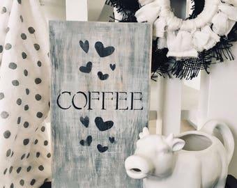 Farmhouse coffee sign/Coffee bar sign/Coffee sign/Rustic wood coffee sign/Farmhouse coffee bar