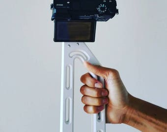 ULTIMATE Camera GRIP by G6 Products | Fits All Cameras, Mount GoPro iPhone DSLR Gimbal Stabilizer | Ultra lightweight Holds Multiple Gadgets