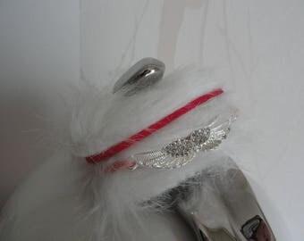 "Bracelet ""Yéti"" fur effect winged winter 2015 collection"