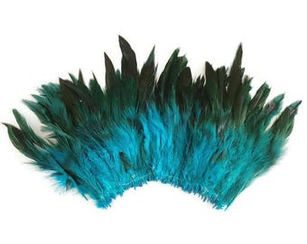 Long blue feathers