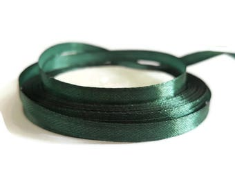 Satin ribbon 6mm Green tree
