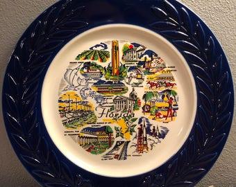 Vintage Florida Souvenir Plate - Mid Century