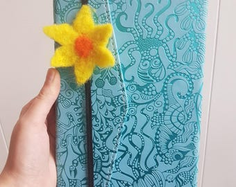 Needle Felt Flower Bookmark