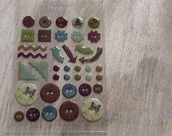 Fancy epoxy stickers