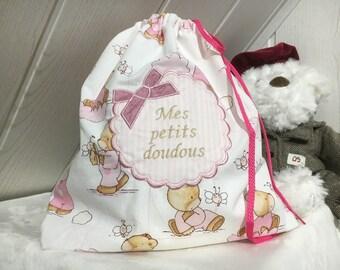 Bag tucks doll girl