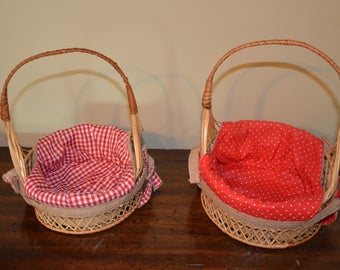 2 COVERS BASKET HAS PAIN - COUNTRY FARM COLLECTION