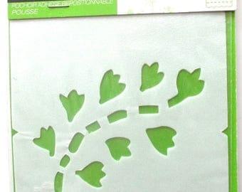 Plastic STENCIL - branch pattern - size 9 x 10 cm REF. 231136