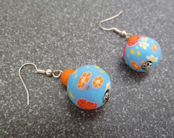 "Earrings ""while polymer clay"""