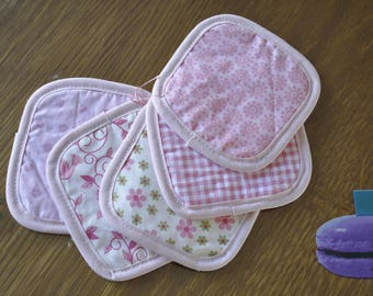 Light pink set of 5 wipes