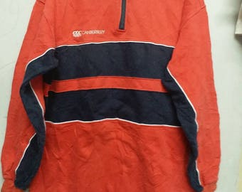 Vintage Canterburry Half Zipper Sweatshirt Hip Hop Style M