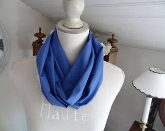 Silk and viscose blue Snood