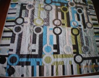 """keys"" patchwork wall oujete sofa"