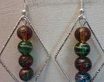 The four pearls diamond earrings