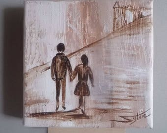 """Canvas, painting and its Bridge: """"together""""."""
