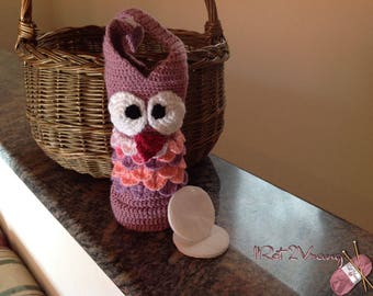 Owl for Purple cotton swabs