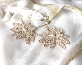 earring lace retro Victorian lolita ceremony