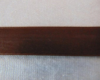 Double faced satin ribbon, Brown (S-0667)