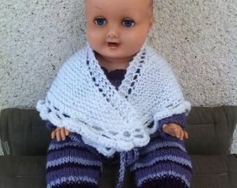 Shawl white baby acrylic 45cm
