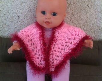 Shawl pink doll 30cm