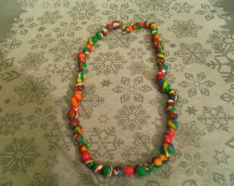 beautiful unique and original necklace multicolor