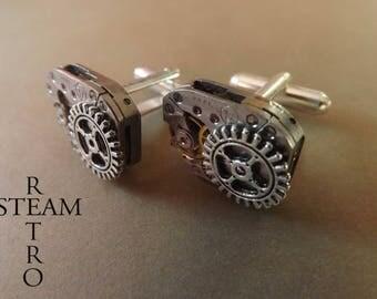 Accessories gear steampunk cuff links steampunk mens wedding steampunk cufflinks cuff links