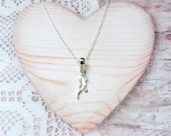 Salamander lizard charm pendant chain necklace