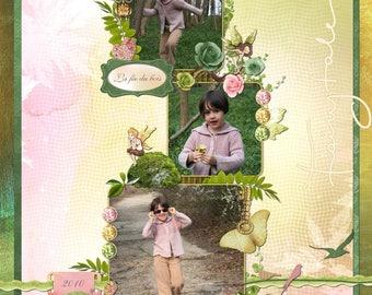 """Kids birthday card ' woodland fairy"""
