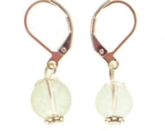Stud Earrings in silver plated - Crystal