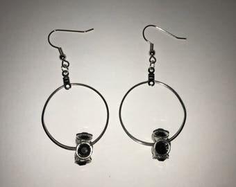 Hoop bead earrings