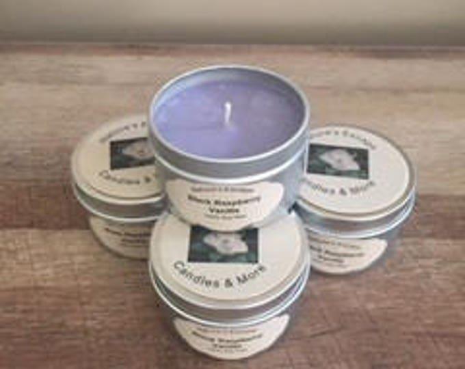 Black Raspberry Vanilla Soy Wax 6 oz. Candle Tins